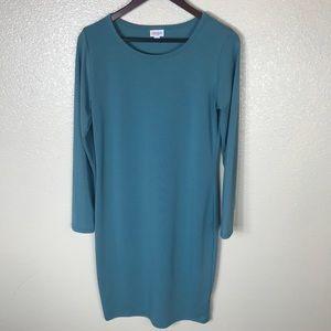 LuLaRoe Solid Teal Color Debbie Dress